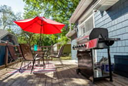 BBQ on back deck where you can create your favorite meals
