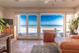 Downstairs Family Room with ocean views