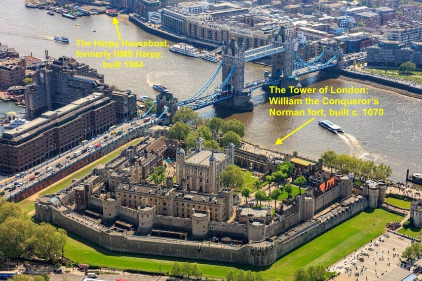 The Harpy, Tower Bridge & The Tower of London