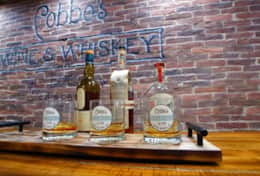 The cellar whiskey tasting