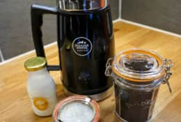 Complimentary organic coffee with a French Press and real cream. Complimentary tea also provided