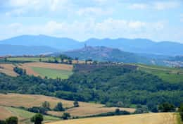 View at Todi from Colle San Giovanni