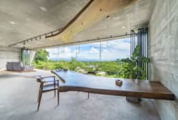 Desk with a view at Villa Felix Sumberkima Hill retreat (1)