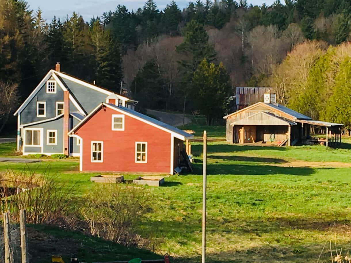 Farmhouse, Saltbox Garage, and Horse Barn