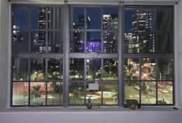 Unobstructed views of Pershing Square and the city skyline.