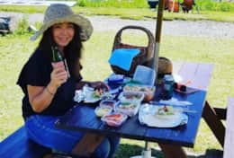 Summer lunch picnic at the top of Iwatake.