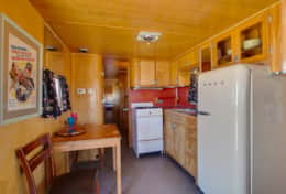 Kitchen with Full Sized Fridge, Stove, Oven and Sink