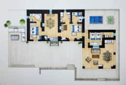 Floor plan - a possible configuration... plenty of space!