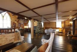 Hall below mezzanine - www.oldchurchcottages.com - Boundary Creek,NB Location
