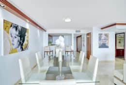 Dining area, seating for 6, seating at kitchen counter for 3, fully equipped kitchen