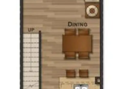 Main floor - living room, balcony, kitchen and half bathroom