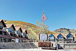 front of lodge/entrance to Park city mountain resort
