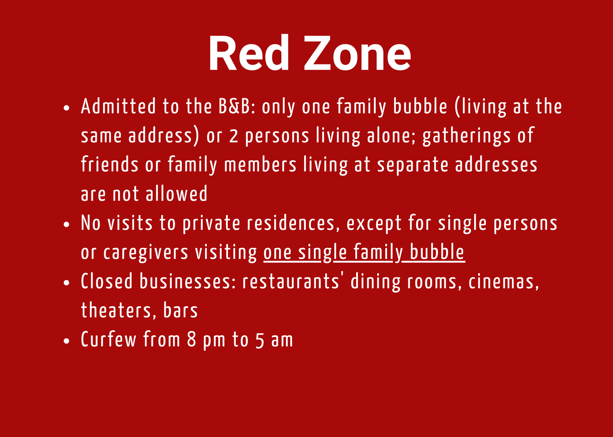 Auberge Tom B&B - Red Zone