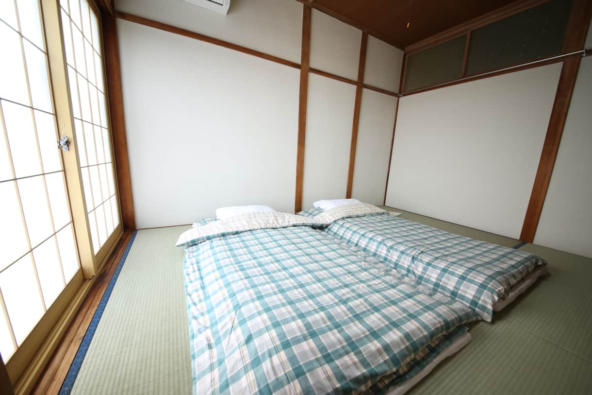 Room 2 is a 6 mat room with comfortable futon beds for 2-3 guests.
