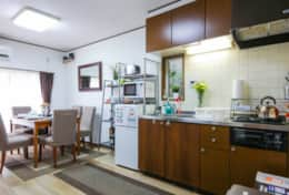 Kitchen and dining room  Tokyo Family Stays | Yoyo house| Family friendly accommodation |