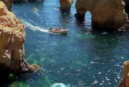 Magnificent rock formations in Algarve