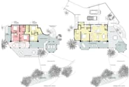 Upper and Lower Floor Plans