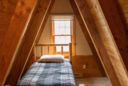 A-frame bed with two twins