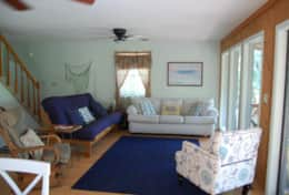 Living Room with sleeper sofa & futon