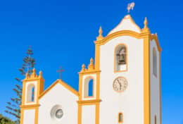 Typical church in Luz Algarve