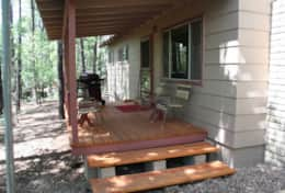 cabin 3 covered patio with gas grill