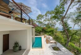 Immaculate 3/5 bedroom home overlooking the jungle, river mouth and ocean.