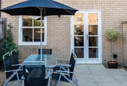 Patio garden, Camstay New Street, Cambridge