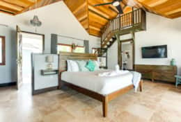 Large air conditioned villa with king bed and loft