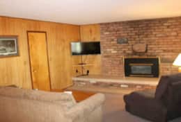 cabin 9 sleeper sofa fireplace and smart tv