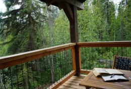 Relax, and have some quiet time on the back porch with a good book out in nature