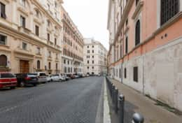Our street, via Firenze and the building, vacation rental in Rome
