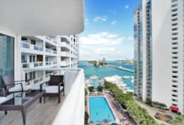 Views off living room balcony of Biscayne Bay