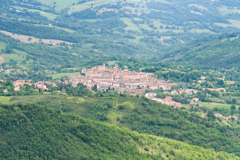 Sarnano from the Sibillini