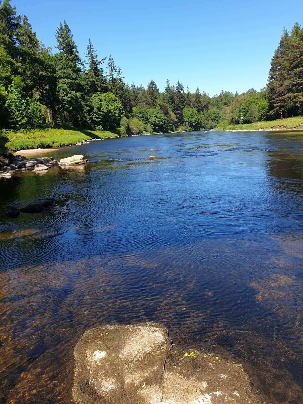 The River Spey is 10 minutes walk from the house