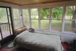 Back porch/extra bedroom