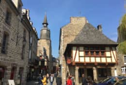 Medieval Dinan - has a 15th-century Clock Tower (Tour de l'Horloge)