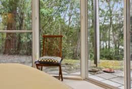 Large bedroom windows - The River House Gipsy Point - Good House Holiday Rentals