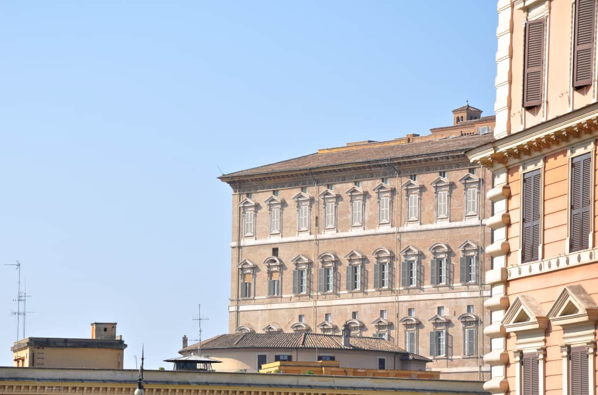 The apartment of the Pope seen from the windows of the Domus Ottavia