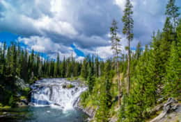 Moose Falls Yellowstone National Park