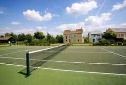 One of three tennis courts.