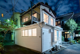 Outside Night | Tokyo Family Stays| Satellite Hotel Yoyogi | Family friendly Tokyo accommodation