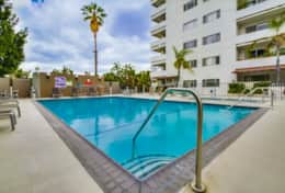 Building Amenities - Communal Pool and Hot Tub