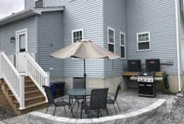 Back patio and grill