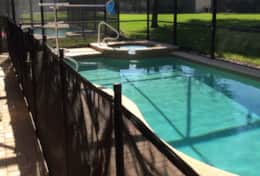 Pool with safety fence 2