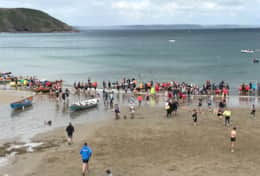 Regatta Day in July with Gig racing at Gorran Haven