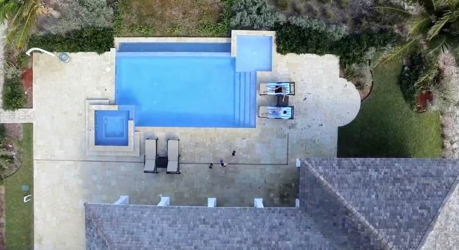 Villa XXI Exuma Drone View of the Pool