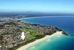 Forster Tuncurry accommodation beachfront