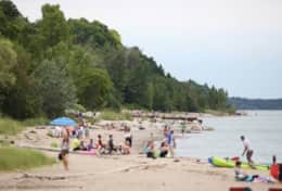 Main Beach in Bayfield
