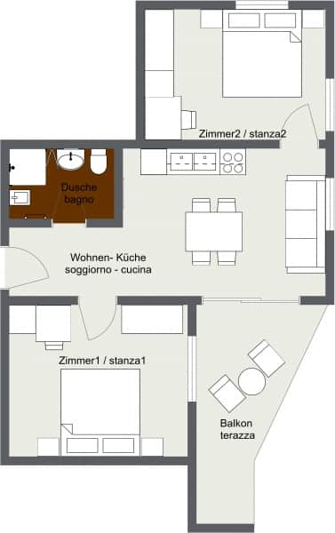 Apartment 2 - Etage 1 - 2D Floor Plan
