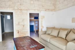 From the living room guests can access the 3rd bedroom and the bathroomto